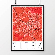 Grafika - NITRA, moderná, červená - 7744563_