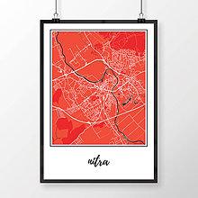 Grafika - NITRA, klasická, červená - 7744570_