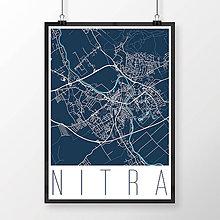 Grafika - NITRA, moderná, tmavomodrá - 7744582_