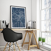 Grafika - NITRA, elegantná, tmavomodrá - 7744591_