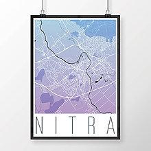 Grafika - NITRA, moderná, modro-fialová - 7744594_
