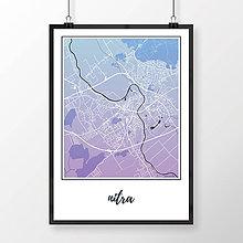 Grafika - NITRA, klasická, modro-fialová - 7744596_