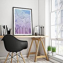 Grafika - NITRA, elegantná, modro-fialová - 7744605_