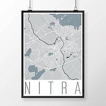 Grafika - NITRA, moderná, svetlomodrá - 7744607_