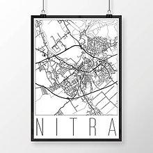 Grafika - NITRA, moderná, biela - 7744615_