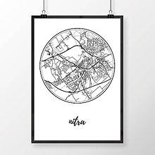 Grafika - NITRA, okrúhla, biela - 7744620_