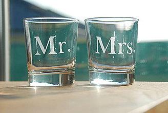 Nádoby - Gravírované poháre Mr & Mrs - 7742969_