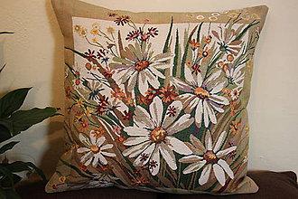 Úžitkový textil - Velký polštář - Bílé květy - 7743695_