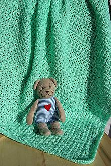Textil - Háčkovaná deka pro miminko- Zelenkavá - 7743753_