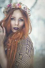 Ozdoby do vlasov - Jemný pastelový venček - 7744515_