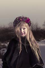 Ozdoby do vlasov - Červenovínový kvetinový venček - 7744567_