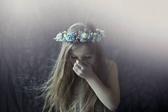 Ozdoby do vlasov - Romantický modrý venček - 7744583_