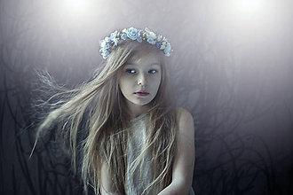 Ozdoby do vlasov - Romantický modrý venček - 7744585_