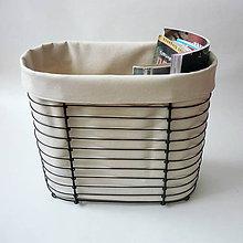 Košíky - Košík zásobník s poťahom - 7743838_