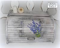 Chlebník Lavender bielo-šedy :)