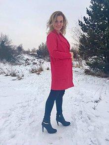 Kabáty - Ružový kardigán - 7742282_