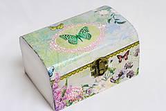 Krabičky - Motýlie lietanie - menšia šperkovnička - 7744471_