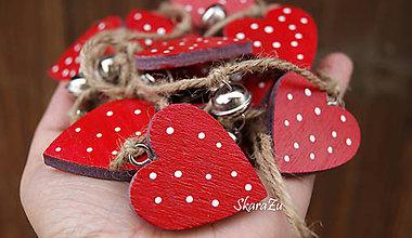 Dekorácie - Heart dots garland - 7744325_