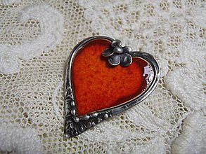Odznaky/Brošne - brošňa srdce... - 7741485_