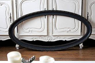 Rámiky - Starožitný čierny rám - predaný - 7741145_