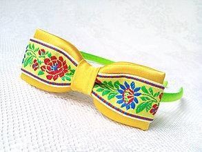 Ozdoby do vlasov - Sweet folklore headband (yellow/apple green) - 7745760_