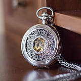 - Mechanické vreckové hodinky s krúžkovanou reťazou (5) - 7749094_
