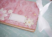 Scrapbook album / kniha hostí s mašľou