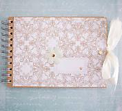 - Scrapbook album / kniha hostí s mašľou - 7748510_