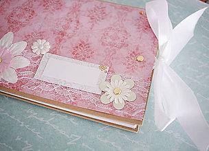 Papiernictvo - Scrapbook album / kniha hostí s mašľou - 7748444_