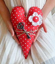 Dekorácie - Valentínske srdce - Kľúč od môjho ♥ - 7747357_