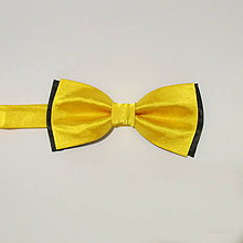 Doplnky - motýlik pánsky žlto-čierny - 7747604_