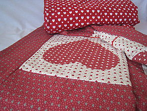 Úžitkový textil - Srdiečková deka - 7747226_