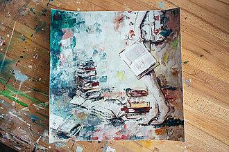 Obrazy - Som nepopísaná kniha. 40x40, plagát - 7748235_