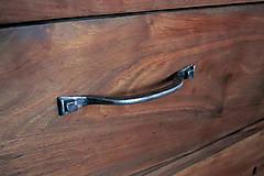 Nábytok - Jednoduché kované úchytky - 7745051_