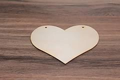 - Drevené srdce 18x13,5 cm - 7746191_