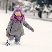 Detské doplnky - Sněhová královna - nákrčník Ametystový - 7745745_