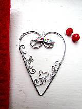 Dekorácie - ornamentové srdce - 7745646_