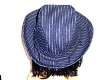 Čiapky - Rifľový klobúk - 7746246_