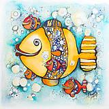 Kresby - Rybičky - jedna - 7749549_