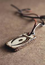 Šperky - Drevený prívesok - Elder scrolls  - 7751844_