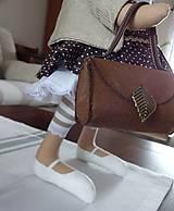 Bábiky - Myška s vintage kabelou - 7751605_