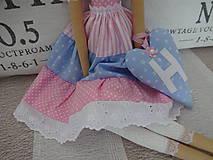 Bábiky - Ružovomodrá anjelka - 7751650_