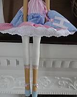 Bábiky - Ružovomodrá anjelka - 7751652_
