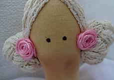 Bábiky - Ružovomodrá anjelka - 7751653_