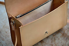 Kabelky - kožená kabelka RONDIE prírodná - 7753761_