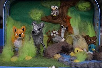 Hračky - Les v kufríku so zvieratkami - 7751760_