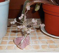 Dekorácie - tree for happy with rosa quartz - 7752955_