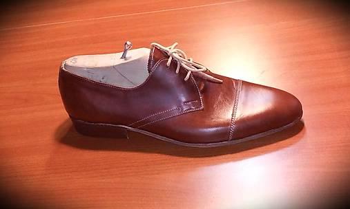 Pánské luxusné kožené topánky v farbe koňak   satika74 - SAShE.sk ... be831e40322