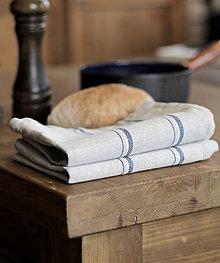 Úžitkový textil - Set - ľanovo-bavlnené utierky do vidieckej kuchyne - 7750265_