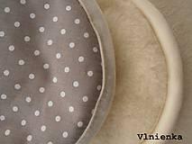 Textil - Klasická zavinovačka pre novorodenca zimná 100% MERINO TOP Bodka sivá - 7752467_